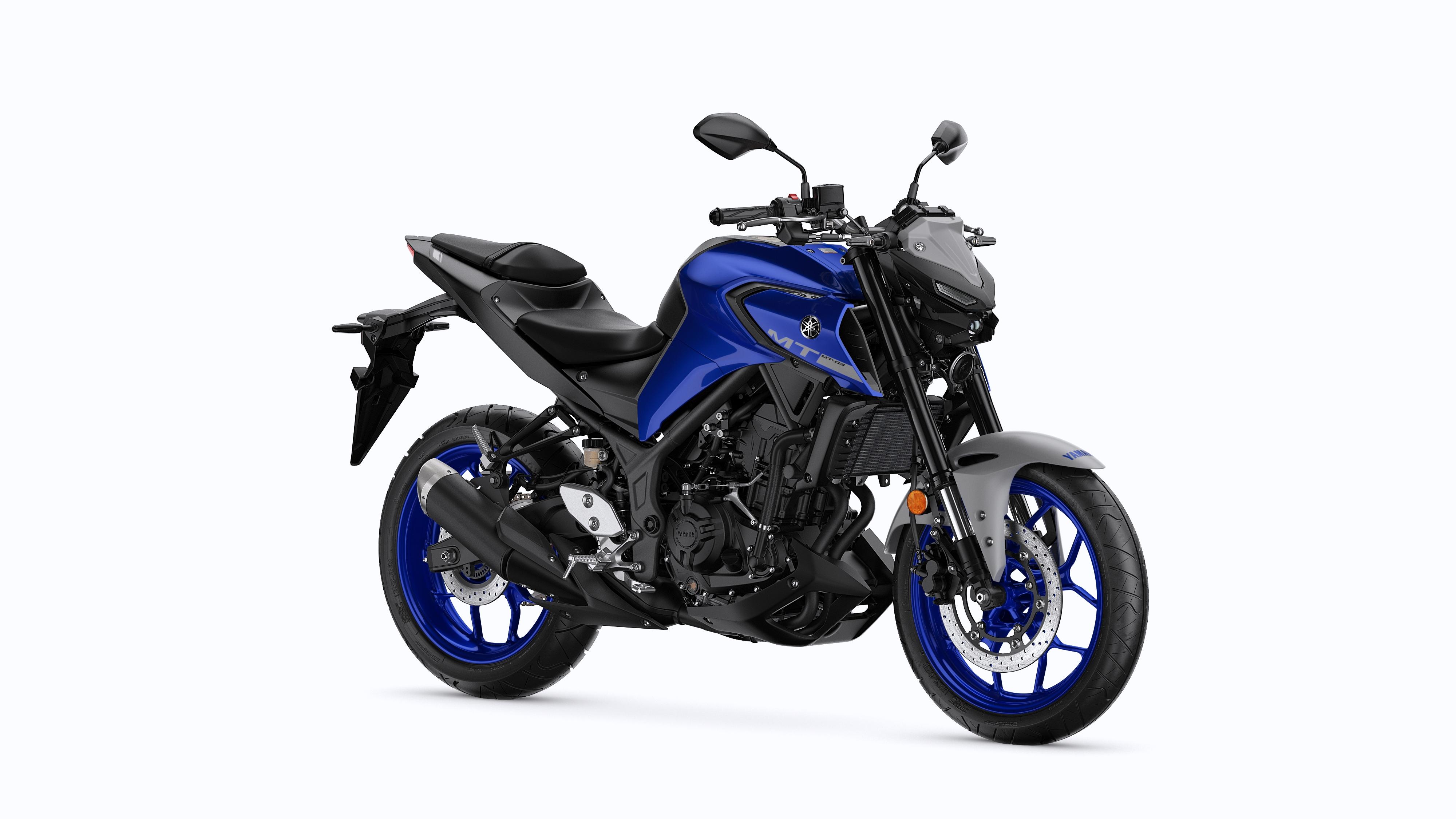Yamaha MT-03 icon blue