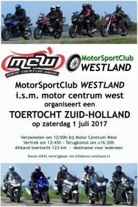 Toertocht MotorCentrumWest | MotorSportClub Westland