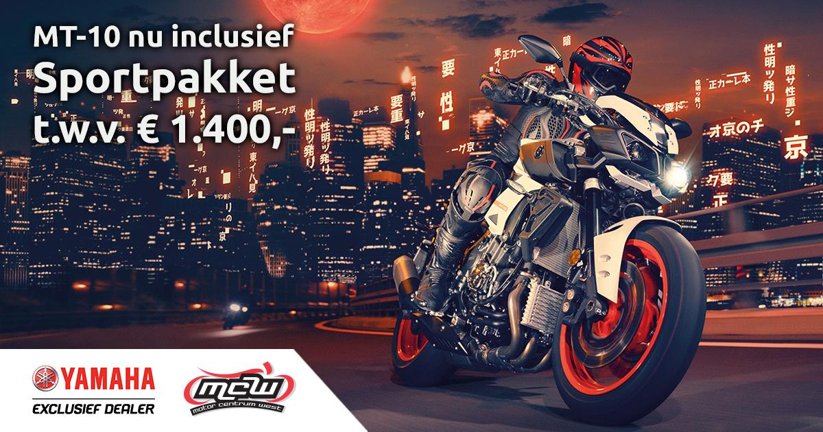 Gratis sportpakket Yamaha MT10 MotorCentrumWest