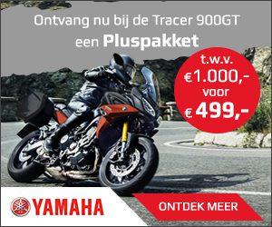 Bestel Pluspakket t.w.v. €1.000,- voor maar €499,- bij aanschaf Yamaha Tracer 900 GT | MotorCentrumWest